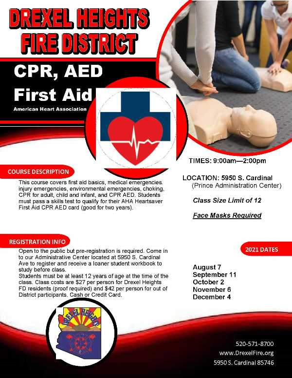 2021 CPR AED First Aid Flyer Image