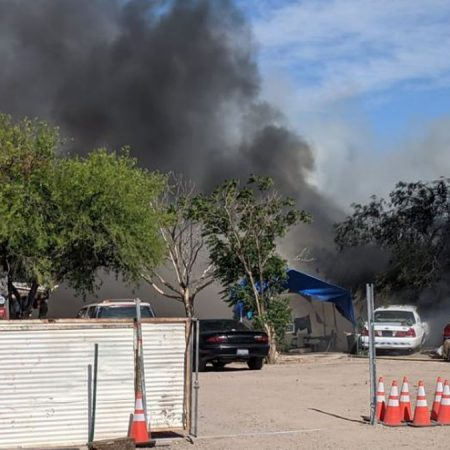 Firefighter injured at fire on Tucson's southwest side